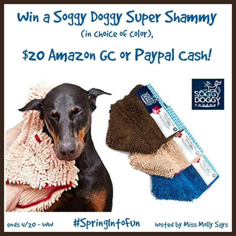 #Win a Soggy Doggy Super Shammy, $20 Amazon GC or Paypal Cash! #SpringIntoFun - ends 4/20 Open WW