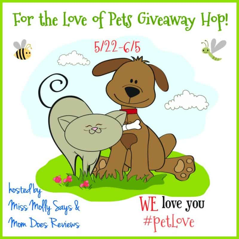 For the Love of Pets Giveaway Hop button