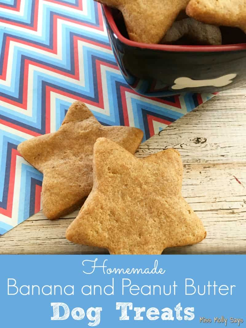 Homemade Banana and Peanut Butter Dog Treats