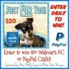 Just Fur You: #Win a $20 Walmart GC or Paypal Cash! #WagsandWoofs - ends 6/7 Open WW