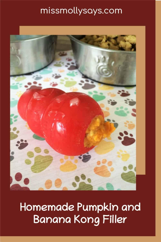 Homemade Pumpkin and Banana Kong Filler