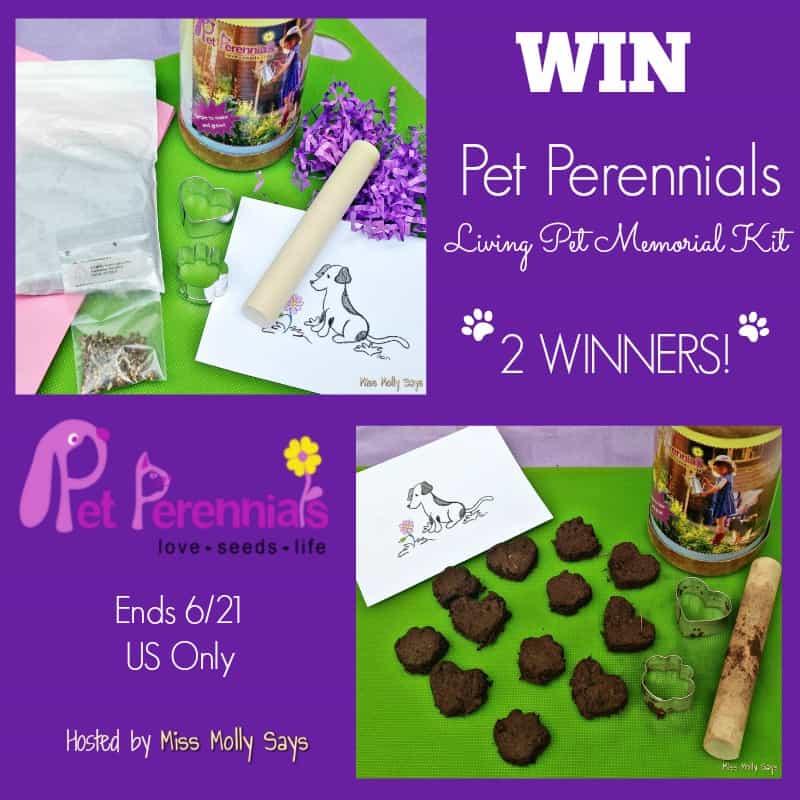 #Win a Pet Perennials Living Pet Memorial Kit! 2 WINNERS - ends 6/21 US Only