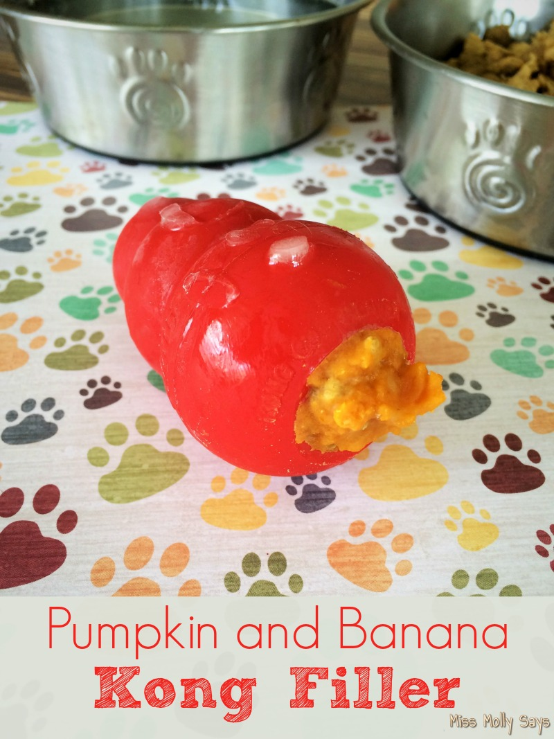 Homemade Pumpkin and Banana Kong Filler frozen