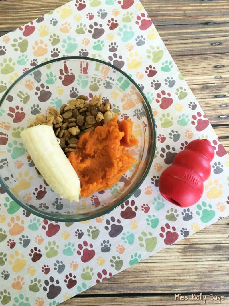 Homemade Pumpkin and Banana Kong Filler ingredients