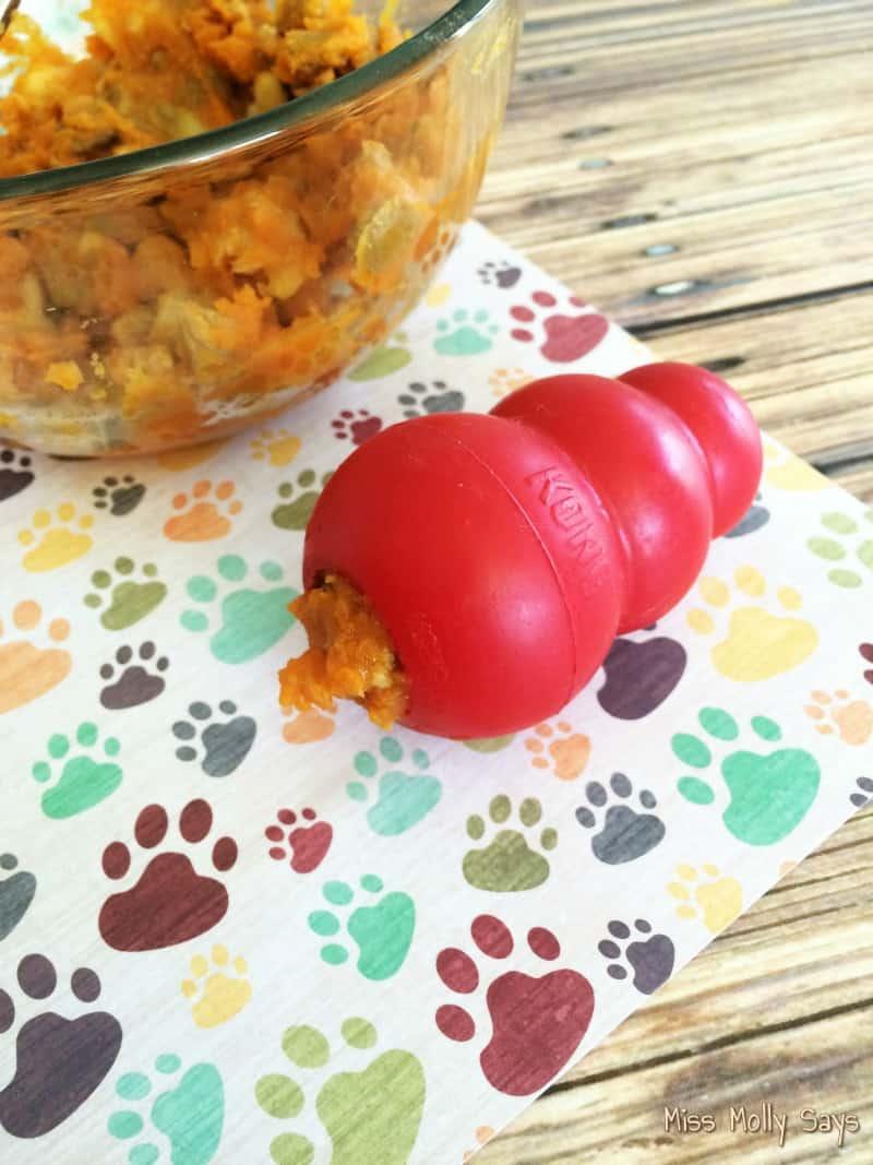 Homemade Pumpkin and Banana Kong Filler process 2