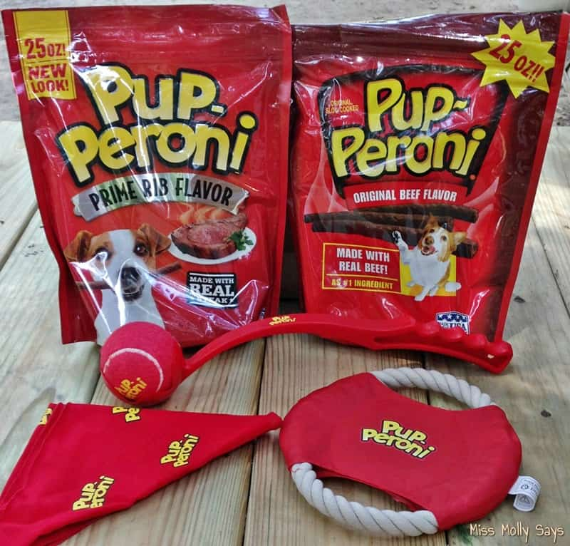 Pup-Peroni Treats and swag