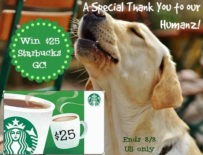 $25 Starbucks GC giveaway button