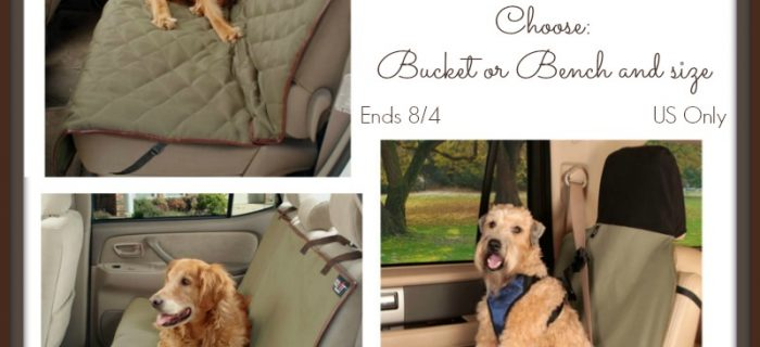 #Win a Solvit Bucket OR Bench Pet Seat Cover of Choice – ends 8/4 US Only