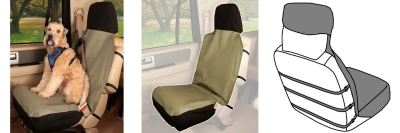 Solvit Sta-Put™ Waterproof Bucket Seat Cover collage
