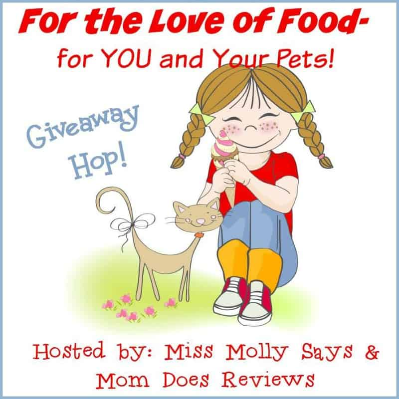 #BloggersWanted! Sign up for The Love of Food- For You and Your Pets #Giveaway Hop!