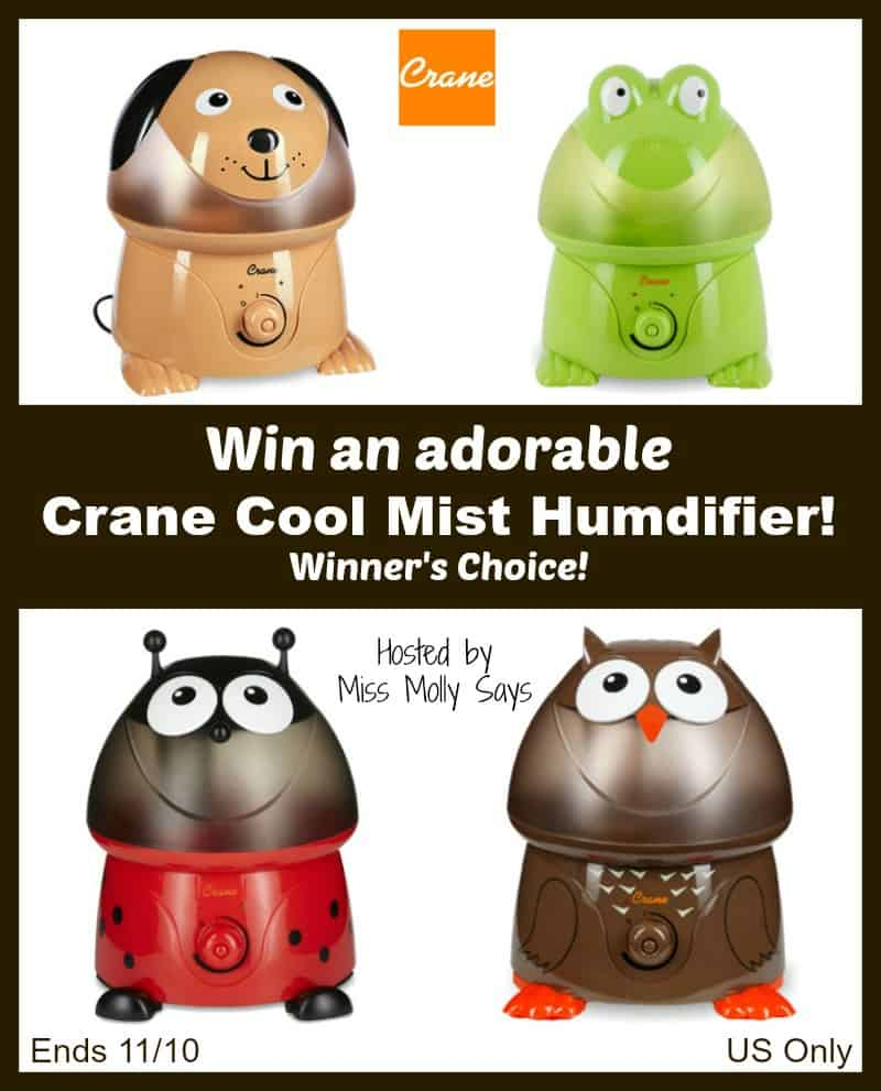 Crane Cool Mist Humidifier giveaway button