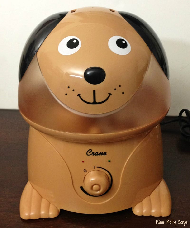Crane Cool Mist Humidifier - Cocoa the Dog