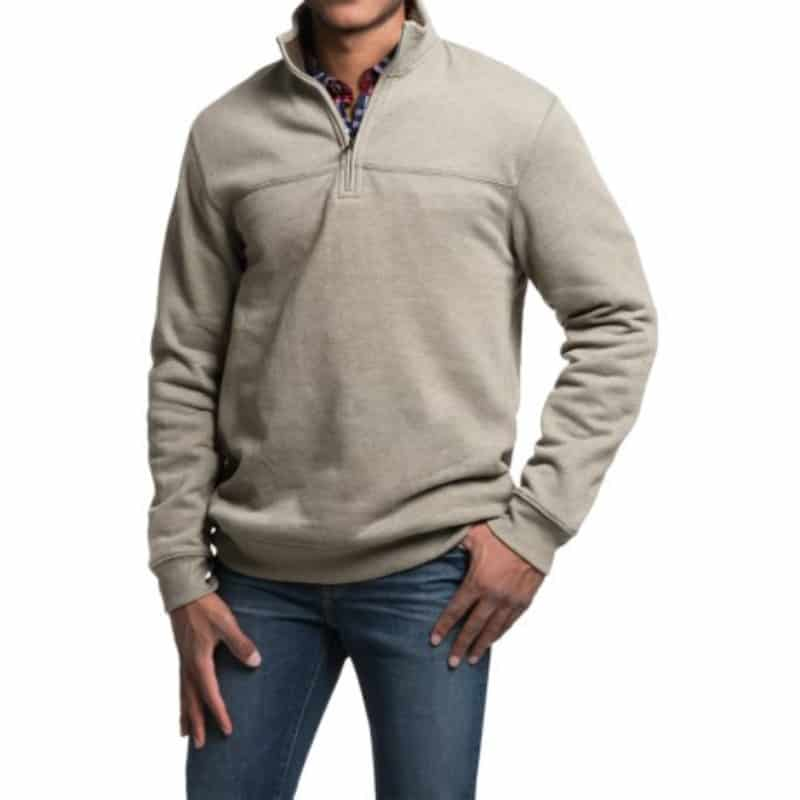 zip-neck Solid Sweatshirt