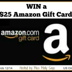 #Win a $25 Amazon Gift Card! #holidaygiveaway – ends 12/14 US Only