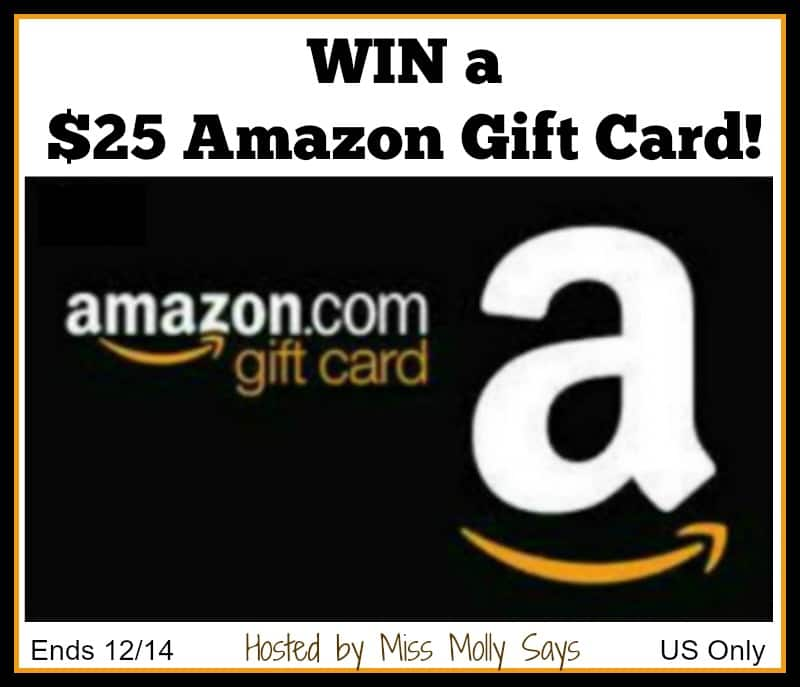 Win a $25 Amazon Gift Card! #holidaygiveaway