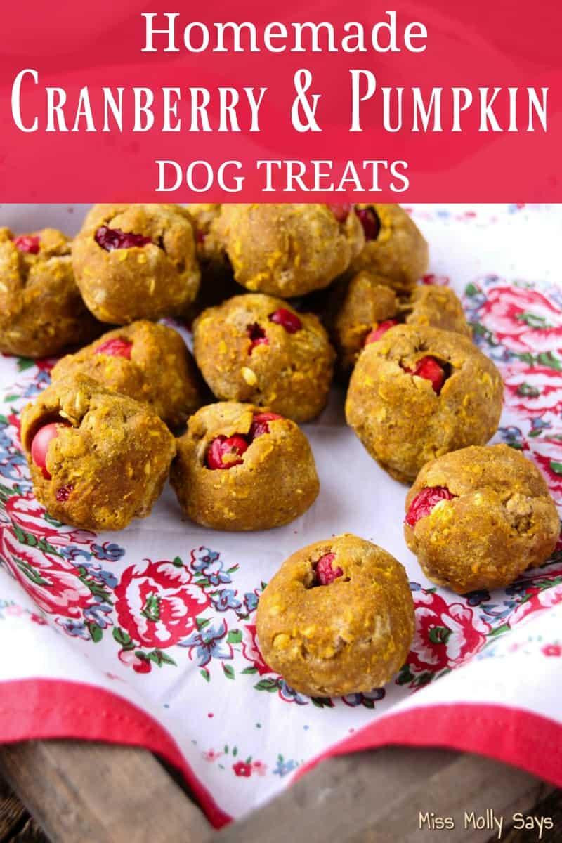 Cranberry & Pumpkin Dog Treats