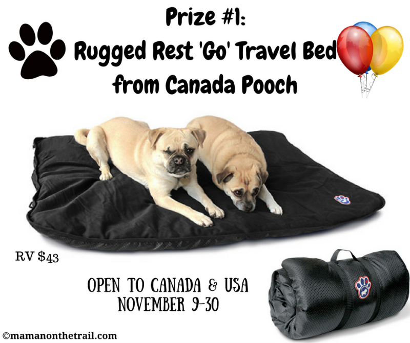Kirby's Birthday Giveaway! Prize #1: Rugged Rest 'Go' Travel Bed from Canada Pooch (RV $43)