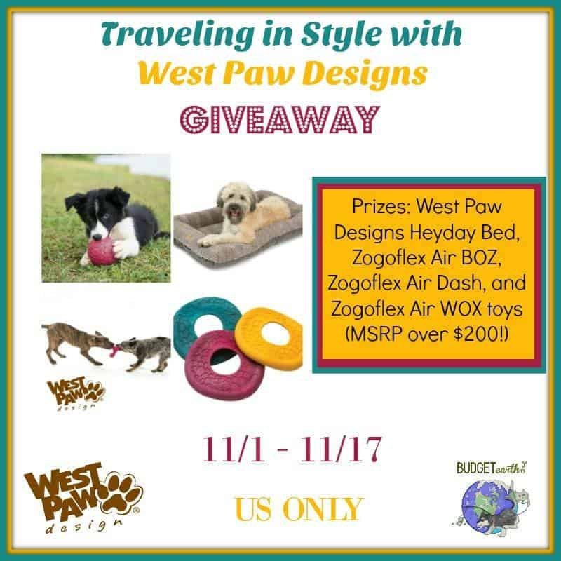 Win a PAWSOME West Paw Prize Pack (MSRP: $214.85)