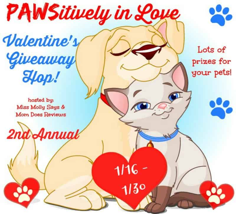 2nd Annual PAWSitively in Love Valentine's Day Giveaway Hop- Sign up here #pawsinlove