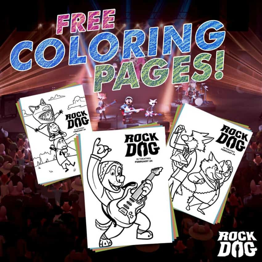 Rock Dog Free Coloring Pages