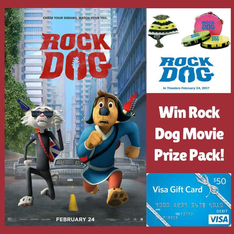 Win a Rock Dog Movie Prize Pack, including a $50 Visa Gift Card! US Only Ends 3/2