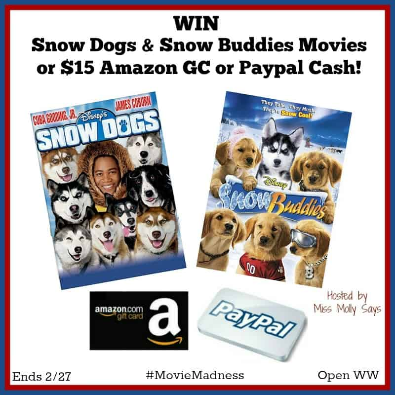 Snow Dogs and Snow Buddies Giveaway
