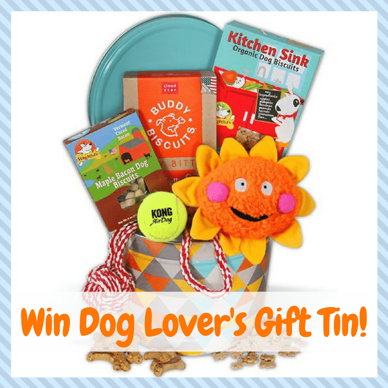 Win a Dog Lover's Gift Tin filled with goodies! US Only Ends 4/2