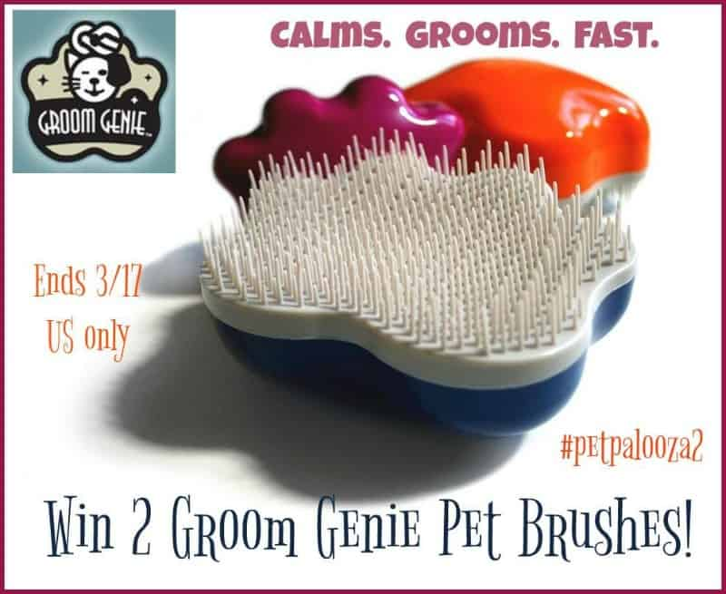 Win TWO Groom Genie Pet Brushes! #petpalooza2 US Only Ends 3/17