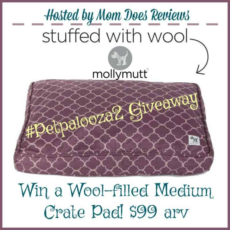 Win a Molly Mutt Wool-Filled Crate Pad ($99 arv)! #Petpalooza2 US Only Ends 4/2