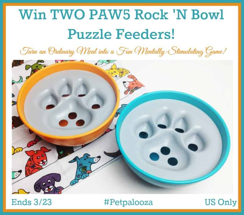 Win TWO PAW5 Rock 'N Bowl Puzzle Feeders! #Petpalooza US Only Ends 3/23