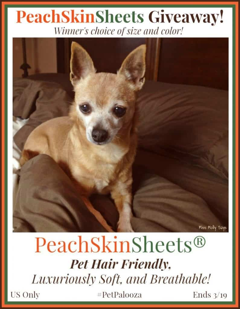 Win PeachSkinSheets in your choice of size and color! #Petpalooza2 US Only Ends 3/19