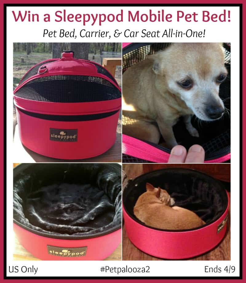 Win a Sleepypod Mobile Pet Bed in color of choice! #Petpalooza2 US Only Ends 4/9