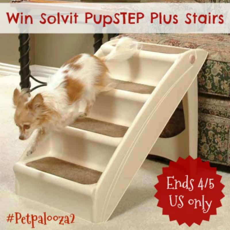 Win Solvit PupSTEP Plus Stairs ($60 arv)! #Petpalooza2 US Only Ends 4/5