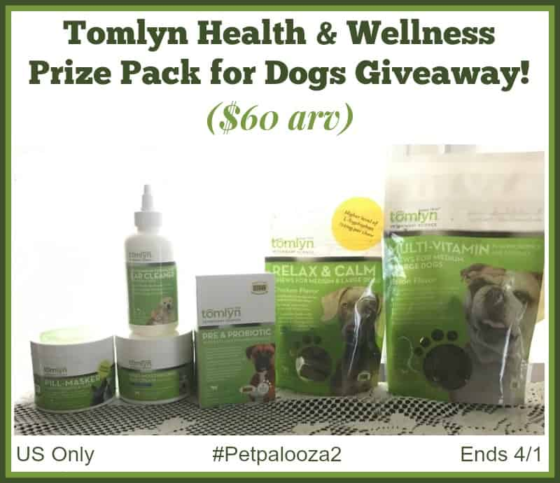 Win a Tomlyn Health & Wellness Prize Pack for Dogs ($60 arv)! US Only Ends 4/1