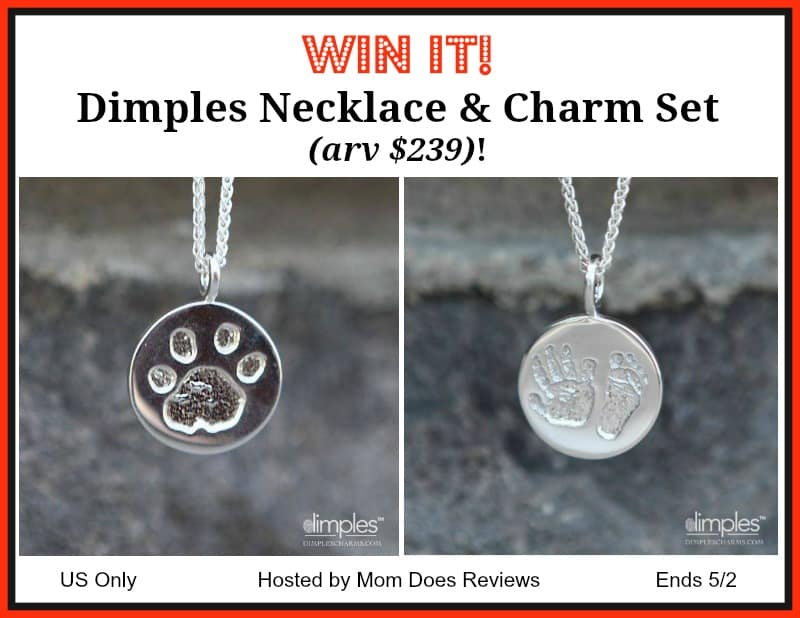 Dimples Necklace/Charm Set (arv $239) Giveaway! US Only Ends 5/2
