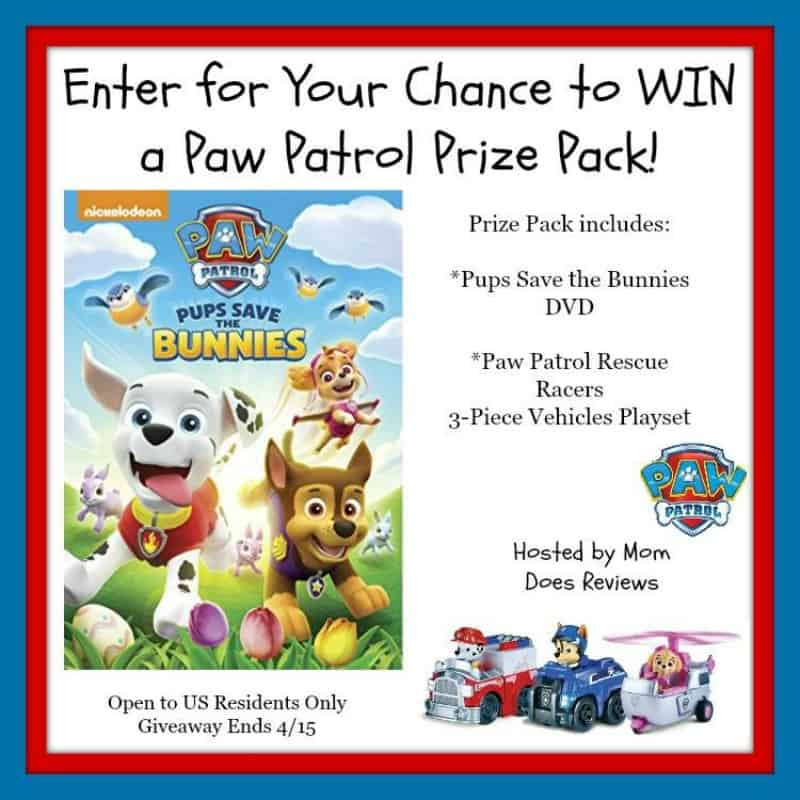 Win a Paw Patrol Prize Pack! US Only Ends 4/15