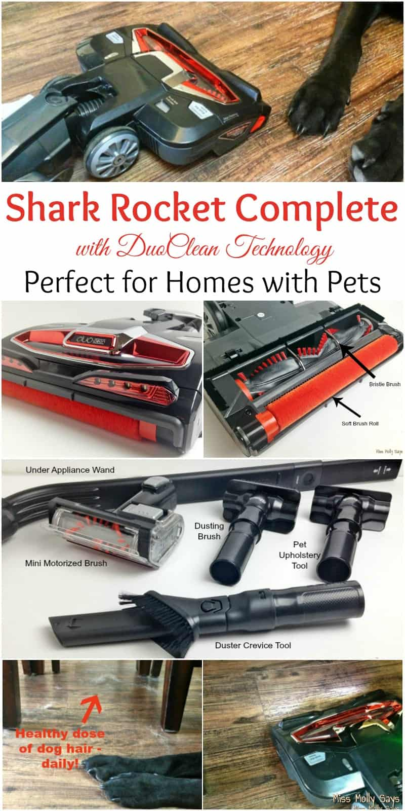 Shark Rocket Complete with DuoClean Technology is Perfect for Homes with Pets