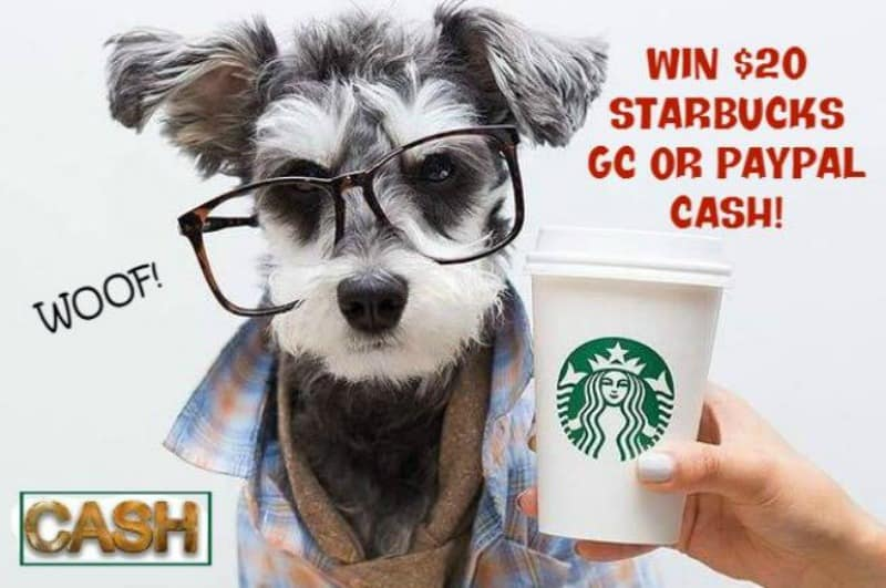 $20 Starbucks Gift Card or Paypal Giveaway