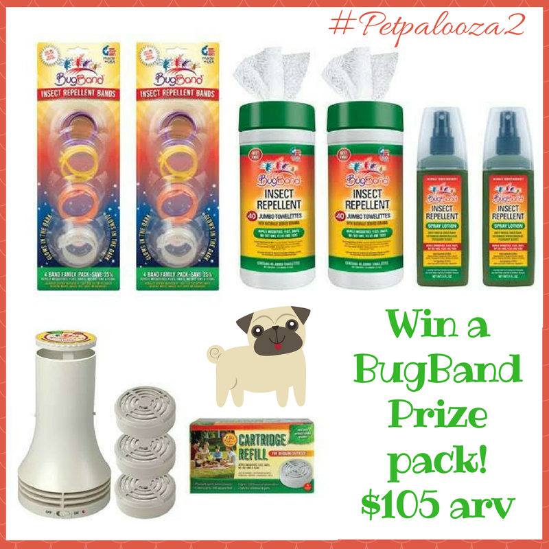 Win a BugBand Prize Pack (Total Value $105)! Safe for kids and pets! #Petpalooza2 US Only Ends 5/14