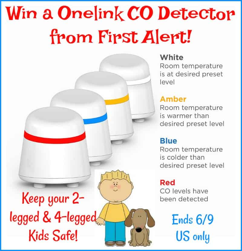 Win a First Alert Onelink CO Detector to Keep Your Family and Furbabies Safe! US Only Ends 6/9