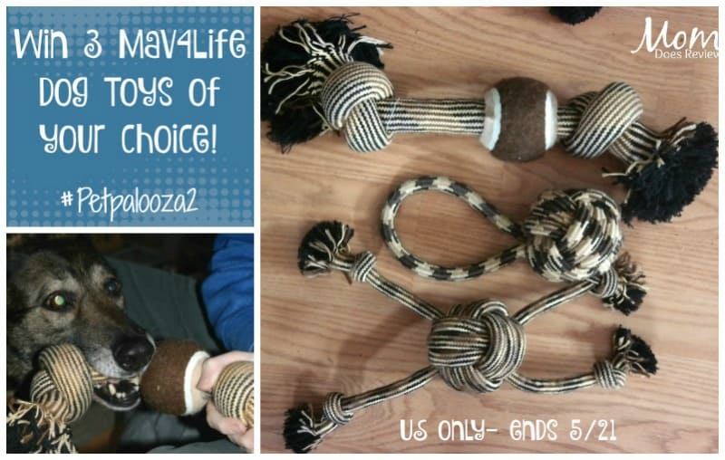 Win 3 Mav4Life Dog Toys of your choice! US Only Ends 5/21