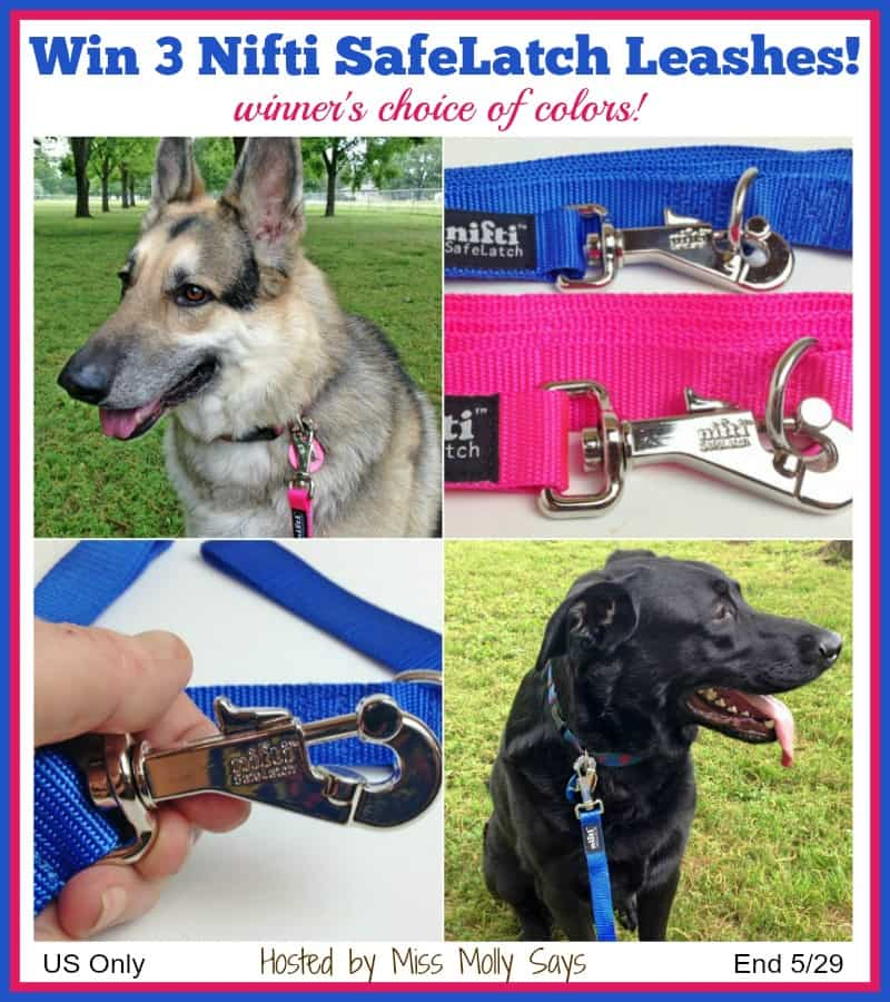 Nifty SafeLatch Leashes Giveaway