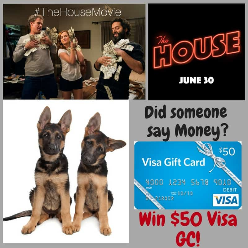 $50 Visa GC and The House Movie Giveaway button