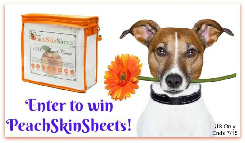 Win a set of PeachSkinSheets in choice of color and size