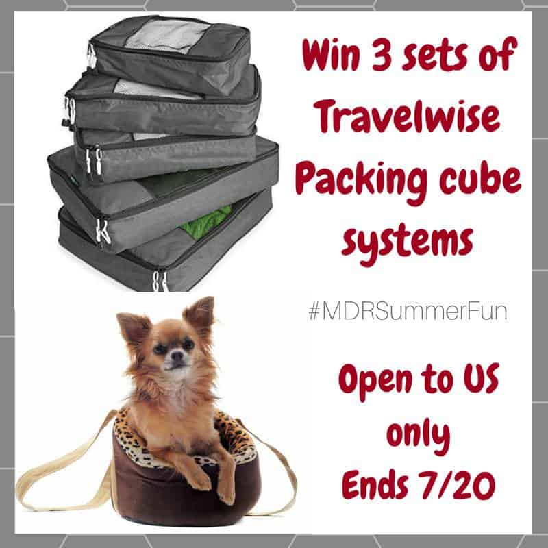 Win 3 sets of the TravelWise 5-pc packing cube system! US Only Ends 7/20