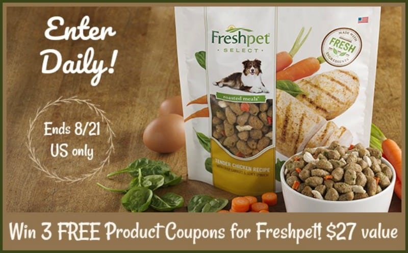 FreshPet Free Product Coupons giveaway button