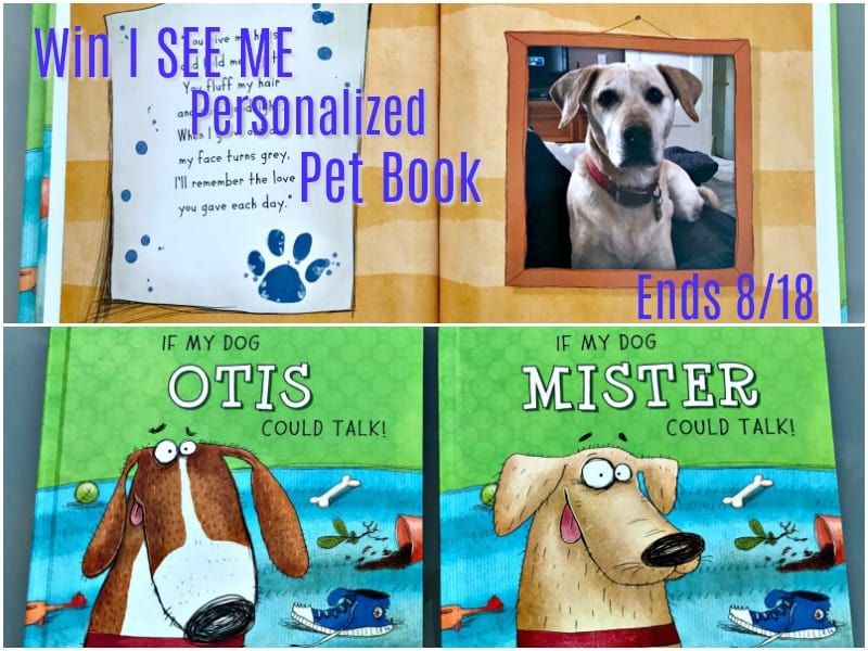 Win an ADORABLE I See Me Personalized Pet Book! US Only Ends 8/18