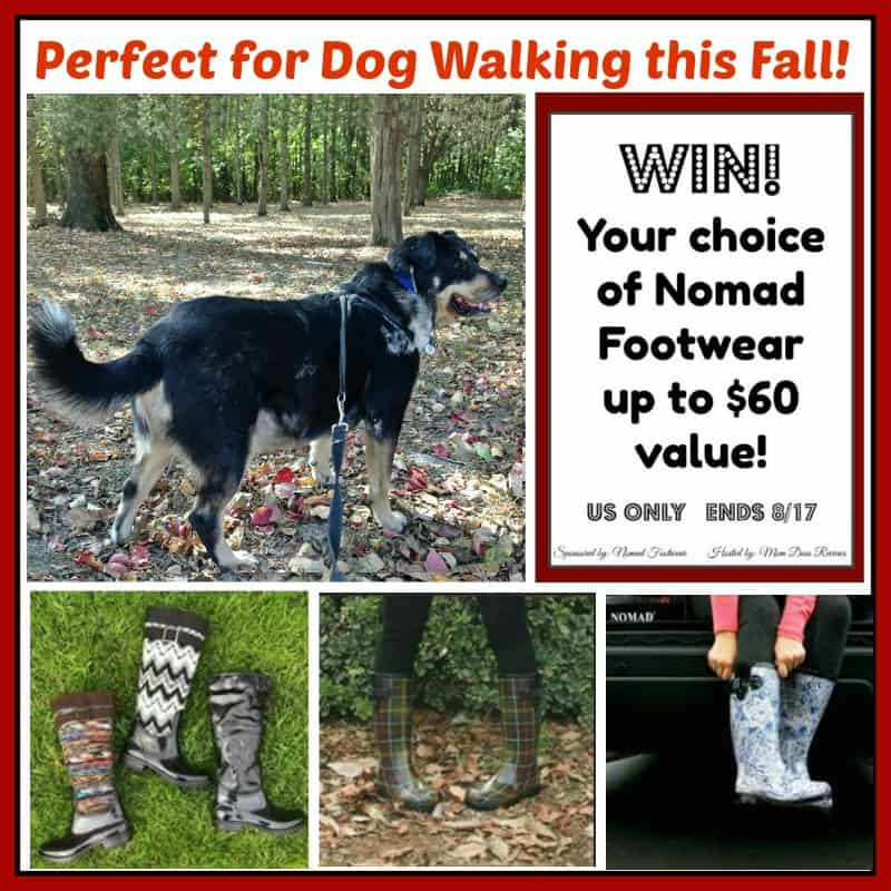 Win Nomad Boots (up to $60 value) and Walk Your Pup in Style this Fall!