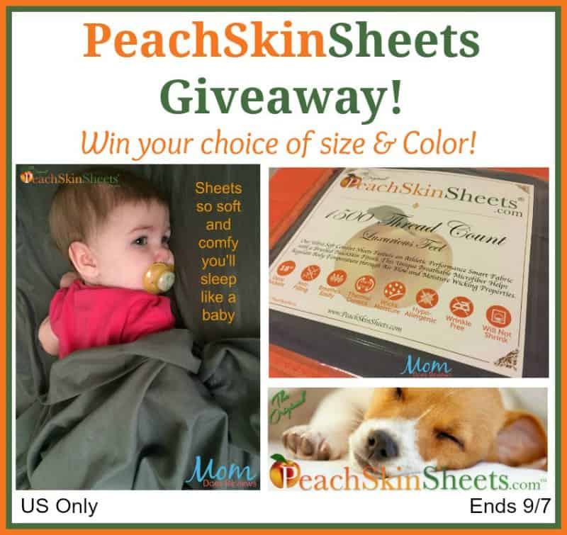 Win PeachSkinSheets in your choice of size and color! US Only Ends 9/7