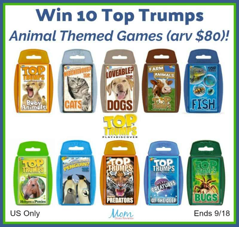 Win 10 Top Trumps Animal Themed Games (arv $80) US Only Ends 9/18